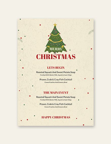 Free Christmas Drinks Menu Free Menu Templates Menu
