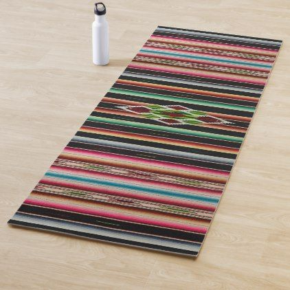 Mexican Blanket Traditional Spanish Fiesta Serape Yoga Mat Zazzle Com Mexican Blanket Serape Blanket