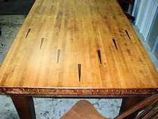 Hinz 57 Salvaged Bowling Lanes Hand Crafted Into Beautiful Tables