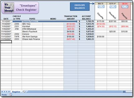 Excel Check Register Spreadsheet {{Organization}} Pinterest - check registers