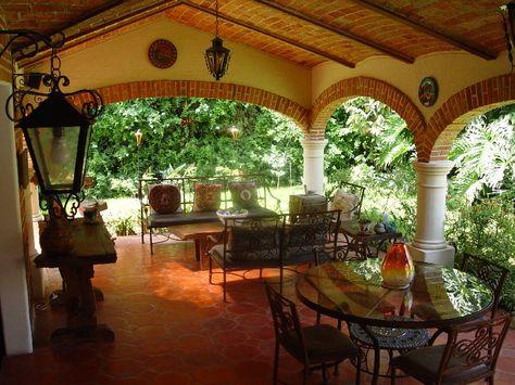 Hacienda style patio