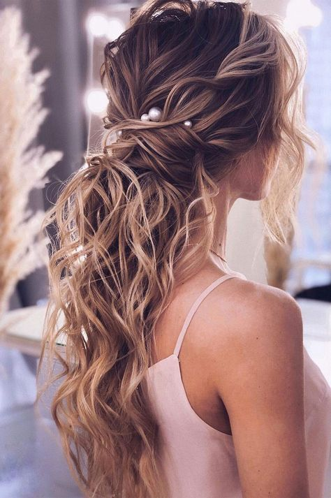 53 Best Ponytail Hairstyles { Low and High Ponytails } To Inspire , hairstyles #weddinghair #ponytails #wedding #hairstyles #ponytail #weddinghairstyles Prom hairstyle, easy ponytails, puff ponytails