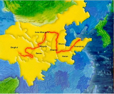 Yellow River Map China Pinterest Yellow River - Huang river world map