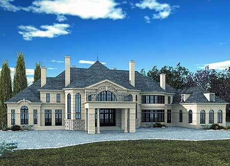 Plan 12213jl Stately Chateau Mansion Floor Plan Colonial House Plans House Plans