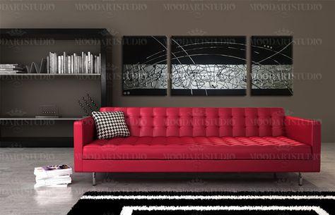 2b0a1684b Cuadro negro y plata en relieve moodartstudio.es | Cuadros modernos ...