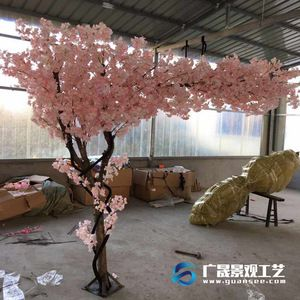 Source China Manufacture Artificial Plastic Pink Flowers Cherry Blossom Tree For Wedding Decorat Blossom Tree Wedding Tree Wedding Wedding Backdrop Decorations