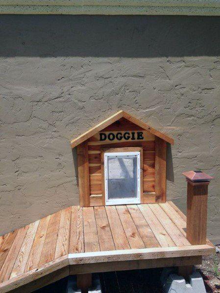 Top 50 Best Doggy Door Ideas Canine Convenience Designs Pallet Dog House Dog Door Dog Ramp