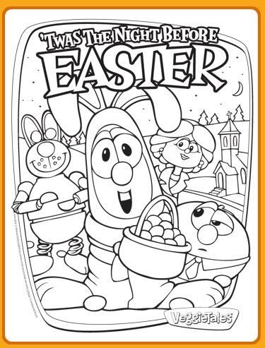 Veggietales Easter Coloring Page Free Easter Coloring Pages