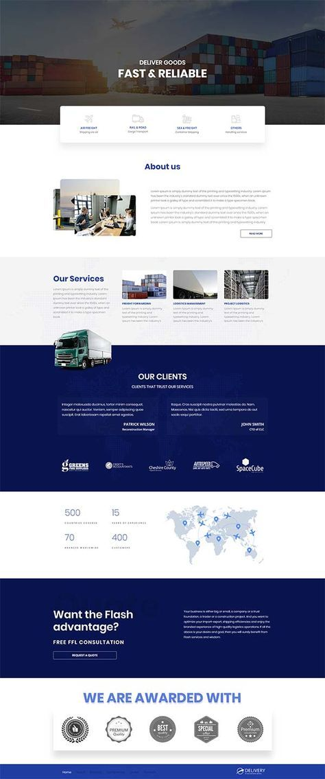 Delivery template | professional website template | business | consulting firm | Contentder
