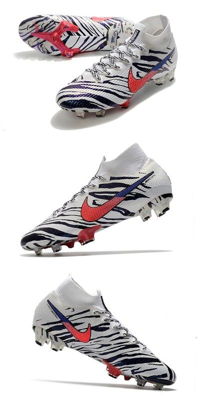 Nike South Korea Mercurial Superfly Vii Elite Fg White Black Red In 2020 Nike Soccer Cleats Nike Superfly