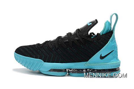 cf8f07973f1 2018 Nike Lebron James 16 Black Jade Black Blue New Release ...