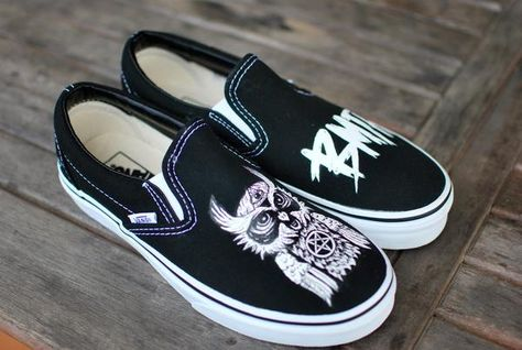 Vans feature a hand painted Bring Me