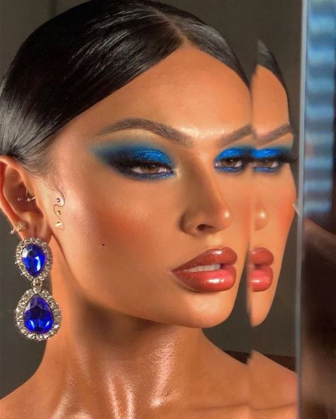 Edgy Makeup, Baddie Makeup, Makeup Eye Looks, Creative Makeup Looks, Cute Makeup, Makeup Goals, Skin Makeup, Makeup Inspo, Makeup Art