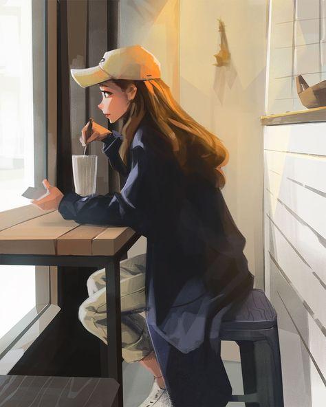 Art Anime Fille, Anime Art Girl, Cartoon Girl Drawing, Girl Cartoon, Super Heroine, Japon Illustration, Girly Drawings, Cartoon Art Styles, Digital Art Girl