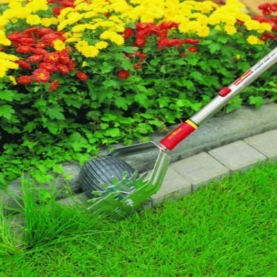 48-Inch Truper 32100 Tru Tough Rotary Lawn Edger with Dual Wheel and Ash Handle