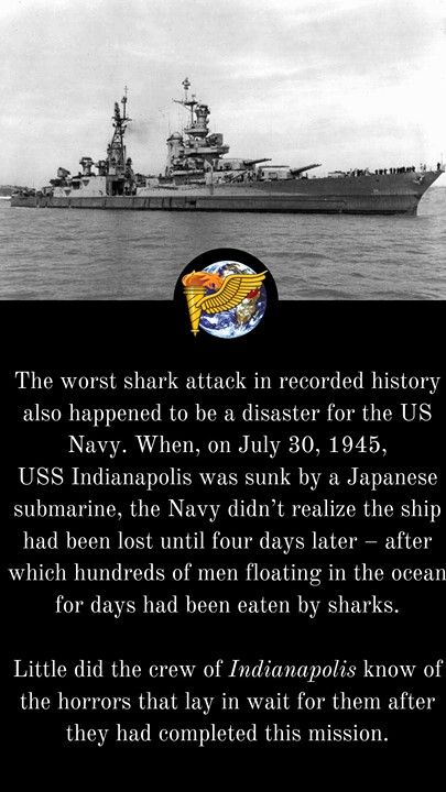 Uss Indianapolis Ca 35 Off Mare Island Navy Yard California 10 July 1945 Just 20 Days Before She Was Sunk By A Ja Uss Indianapolis Indianapolis Shark Attack