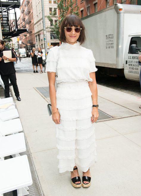 Rashida Jones à la Fashion Week de New York