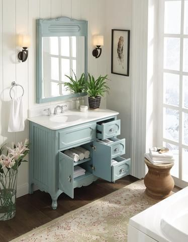 42 Victorian Cottage Style Knoxville Bathroom Sink Vanity Model