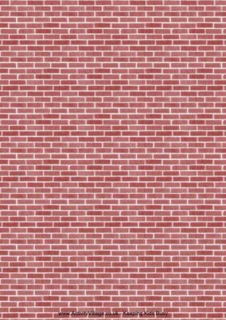 Brick Paper 1 | Model Trains | Brick paper, Doll house wallpaper
