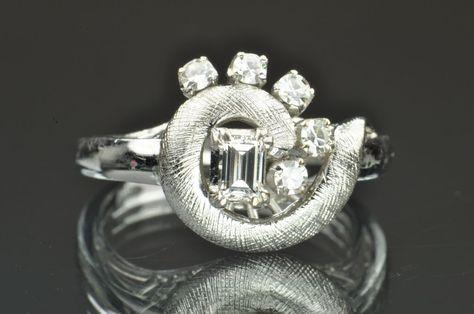 .50 Carat Vintage Diamond Ring 14K White Gold, $999.