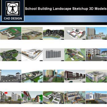 Sketchup 3d Models 20 Types Of School Sketchup 3d Models V 4 3d Design Software Autocad Model
