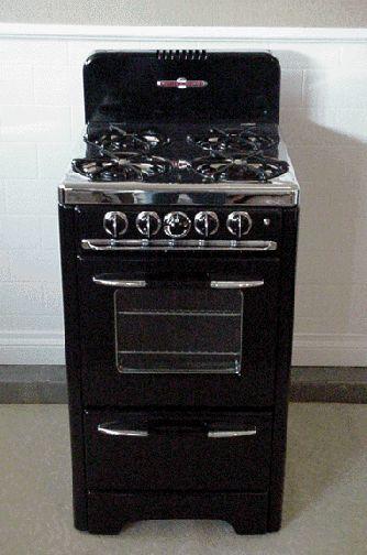 vintage stoves | Black Apartment Size Vintage O\'Keefe ...