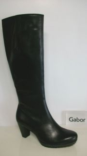 GABOR Stiefel 56.657.47, Nubuk Oil, schwarz (micro