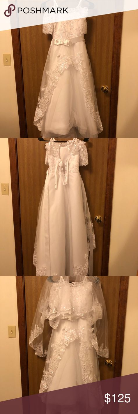39073e9b00ec Flower girl/ first communion dress Kids size 7 my little sister wore to her first  communion, only worn once Dresses Wedding