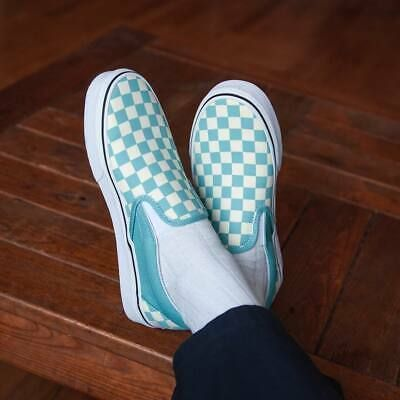 Vans CLASSIC SLIP ON Checkerboard Aqua