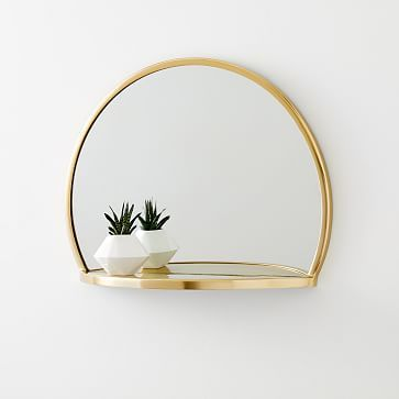 Half Circle Shelf Mirror Brass Circle Shelf Circle Mirror Half Circle