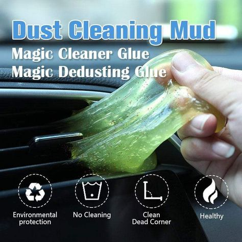 It's inevitable that cars and electronic equipment will eventually fill up with dust,you probably don't remember how it got there, but you sure do want to get rid of it, don't you?! Our Car Clean Adhesive has just what you need! It's a non-toxic, blob of goo! Sounds weird but it's actually a fun gel which works effecti