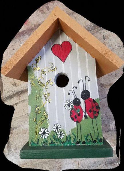 54 Ideas Painting Bird Houses Ideas Nest Box Painting Bird