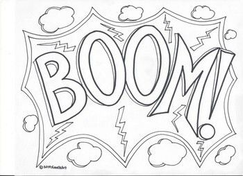 Comic Book Superhero Sound Effect Coloring Pages Set 2 Superhero Coloring Pages Love Coloring Pages Coloring Pages