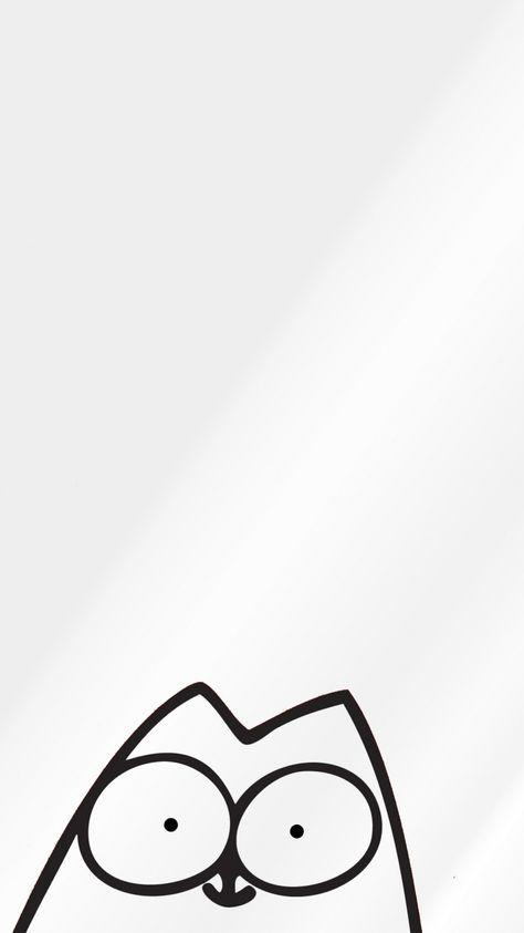 750x1334 Wallpaper Cartoon Texture Cat Cartoon Wallpaper Iphone Cat Wallpaper Black And White Cartoon