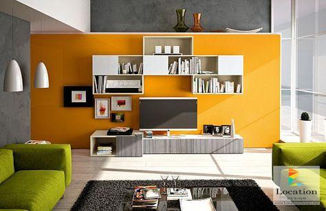 farbgestaltung wände gestalten wandgestaltung wohnzimmer - wandgestaltung wohnzimmer orange