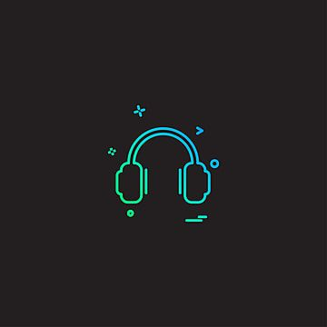 Headphone Icon Design Vector Icon Symbol Illustration Png And Vector With Transparent Background For Free Download Icon Design Music Logo Design Logo Design Free Templates