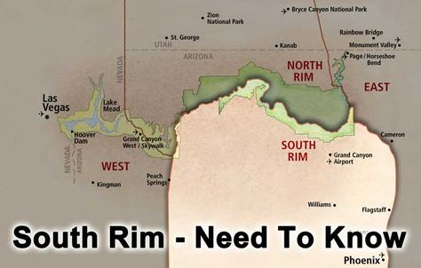 Grand Canyon South Rim - Need to Know: Location, Fees, Parking/Shuttles, Permits