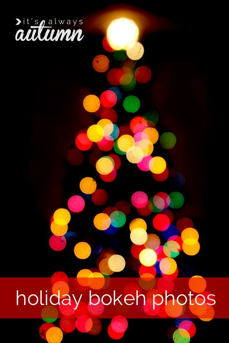 #holiday #bokeh #photos | getting gorgeous #blurred #Christmas #light photos is easier than you think - learn 3 easy tricks with this #photography #tutorial.