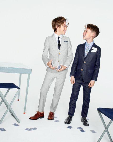 J.Crew Boys' Ludlow suiting. http://www.adorable-kids.com/Adorable_Kids_Store_Location_s/263.htm