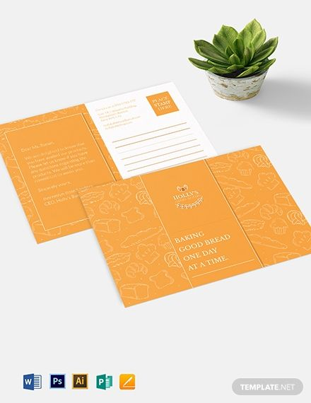 Instantly Download Small Business Postcard Template Sample Example In Microsoft Word Doc A Business Postcards Postcard Design Marketing Postcard Template