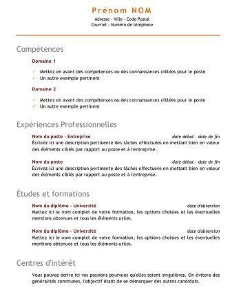 Modele De Cv Pour Etudiant Modele Cv Modele Cv Etudiant Cv Etudiant