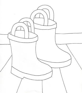Rain Boots Coloring Page Wee Folk Art Toddler Rain Boots