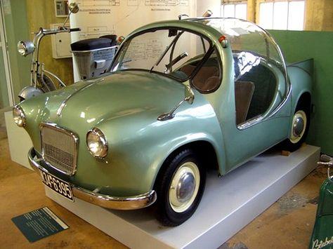 Grohsbach-Eigenbau one-off microcar four-wheel steering and engine Microcar, Miniature Cars, Engin, Weird Cars, Futuristic Cars, Unique Cars, Cute Cars, Small Cars, Car Humor