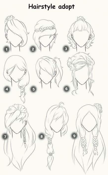 How To Draw Cute Hairstyles Deviantart 63 Ideas For 2019 Drawing Hair Tutorial How To Draw Hair Hair Sketch