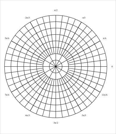 6 Polar Graph Paper Templates Paper Template Mandala Stencils