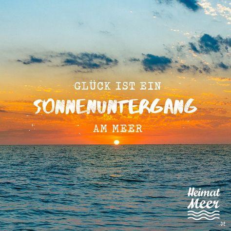 Sonnenuntergang am Meer.  Mee(h)r Heimatmeer www.heimatmeer.de