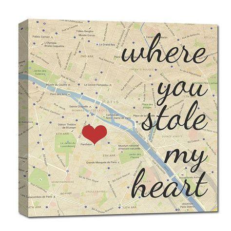 Wo Sie mein Herz benutzerdefinierte Kartenkunst von GeezeesCustomCanvas gestohlen haben  #benutzerdefinierte #geezeescustomcanvas #gestohlen #haben #kartenkunst #originalgiftideas