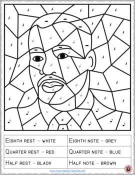 Martin Luther King Jr Music Coloring Pages King Jr Martin