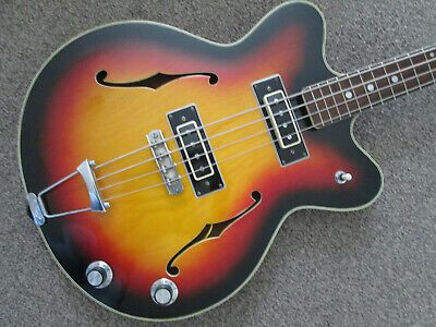Commodore Semi Acoustic Bass Guitar Made In Japan Sixties Ebay Acoustic Bass Guitar Guitar Acoustic Bass