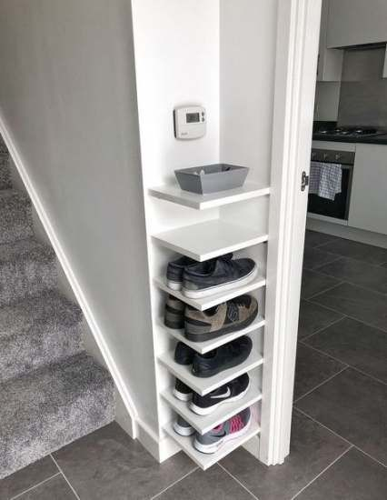 Shoe Organization Foyer Closet 46 Ideas Closet Foyer Ideas Organization Shoe Closet Foyer Ideas Ideascloset In 2020 Schuhe Organisation Schrank Kleiner Raum